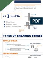 SHEAR STRESS AND BEARING STRESS