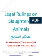 Islamic rulings for slaughtering animals