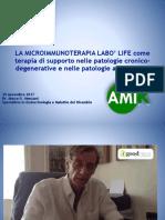 LA MICROIMMUNOTERAPIA LABO' LIFE come terapia di supporto nelle patologie cronico- degenerative e nelle patologie autoimmuni