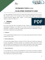 CHAPITRE I. INTRODUCTION A LA PETROGRAPHIE SEDIMENTAIRE