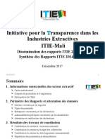 Synthèse rapport ITIE 2014-2015