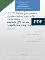 Rapport    pour             Le format de négociation