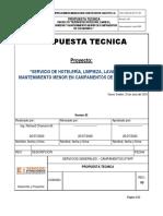 Propuesta Tecnica N° 02 Proceso de Ejecucion Limpieza y Mtto Campamento Colquijirca Junio 2020 Rev.00