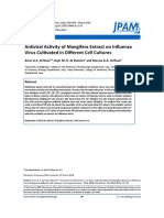 21-Antiviral Activity of Mangifera Extract on Influenza