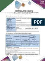 Guía de actividades y rúbrica de evaluación - Paso 2 - Sociedad del Conocimiento y Contexto Educativo