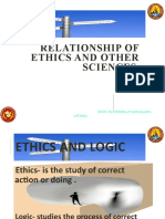 4 scrib 1 RELATIONSHIP OF ETHICS TO OTHER SCIENCES