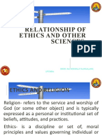 4 srib 3 RELATIONSHIP OF ETHICS TO OTHER SCIENCES