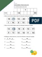 Guia matemática refuerzo números hasta el 20