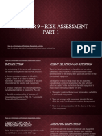 (REPORT) CHAPTER 9 – Risk Assessment Part 1