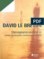 David Le Breton - Desaparecer de si