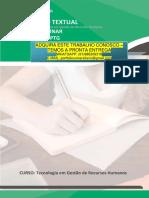 GESTAO DE RH 3 E 4.pdf PRODUÇÃO TEXTUAL INTERDISCIPLINAR EM GRUPO – PTG PRODUÇÃO TEXTUAL Tecnologia em Gestão de Recursos Humanos INTERDISCIPLINAR EM GRUPO – PTG CURSO