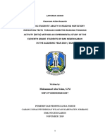 PTK Improving Students' Ability in Reading Hortatory Exposition Texts Through Directed Reading Thinking Activity (Drta) Method an Experimental Study of the Eleventh Grade Students of Smk