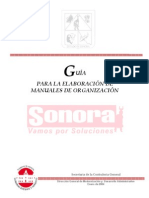 Guia para elaborar un Manual Organizacion