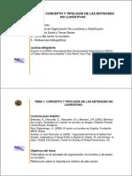 Concepto y tipología de las Organizaciones No Lucrativas
