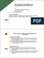 Origen y funciones de las ONL