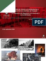 Gestion del Riesgo de Emergencias y desastres en centros de ttrabajo.