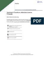 Teaching to Transform W holistic Science Pedagogy (1)