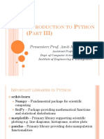 Introduction to Python (Part III)