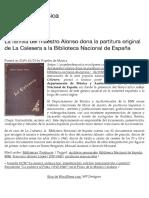 La familia del maestro Alonso dona la partitura original de La Calesera a la Biblioteca Nacional de España   Papeles de Música