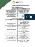 Lista Dos Polos Do Programa Academia Da Cidade Em Funcionamento