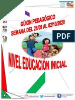 Guion Pedagógico Educación Inicial Semana Del 28-09 Al 02-10-2020