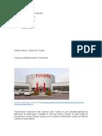 Análisis Interno Y Externo De Toyota