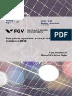 Boas Práticas Regulatórias FGV