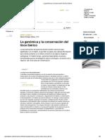 La genómica y la conservación del lince ibérico