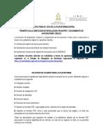 REQUISITOS USO DE LA PLATAFORMA EN TRAMITES DIRRSAC
