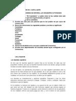 Actividades Español 3,4,5
