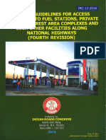 IRC-12-2016-Unified Guidelines for Access Permission to Fuel Stations, Private Properties, Rest Area Complexes and Such Other Facilities Along National Highways