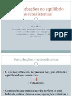 Perturbações no equilíbrio dos ecossistemas (4 aulas)