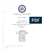Transcript of Testimony by Alan Greenspan & Others Re