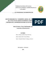 BORRADOR - GESTION DE REMUNERATIVA Y DESEMPEÑO LABORAL