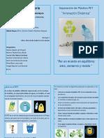 díptico Separación de plastico PET