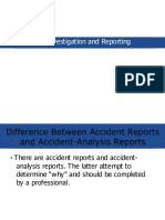 Accident investigation and reporting for ijr