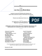 Scarnati v. Pennsylvania Democratic Party stay application