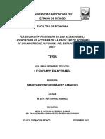 LA EDUCACIÓN FINANCIERA EN LOS ALUMNOS DE LA LICENCIATURA EN ACTUARÍA DE LA FACULTAD DE ECONOMÍA DE LA UNIVERSIDAD AUTÓNOMA DEL ESTADO DE MÉXICO 2014 FINANZAS PERSONALES.pdf