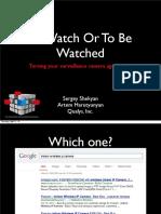 D2T1 - Sergey Shekyan and Artem Harutyunyan - Turning Your Surveillance Camera Against You