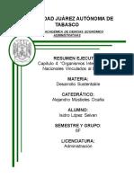 CAPITULO 4 ORGANISMOS INTERNACIONALES Y NACIONALES VINCULADOS AL DESARROLLO