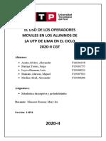 EL USO DE LOS OPERADORES MOVILES EN LOS ALUMNOS DE LA UTP DE LIMA EN EL CICLO 2020-II CGT