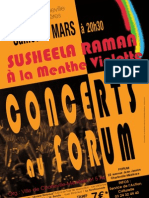 Concert de SUSHEELA RAMAN au Forum de Charleville Mézières, le 5 mars 2011