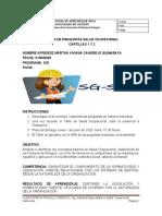 TALLER SEGURDIAD Y SALUD EN EL TRABAJO  CARTILLAS 1 2 medio