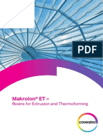 Makrolon ET - Resins for Extrusion and Thermoforming