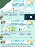 calendario matemático 2020