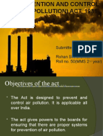 Air Prevention and Control Polution Act 1981