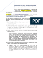 POLITICA-ADMINISTRATIVA DE LA REPÚBLICA DE PANAMÁ