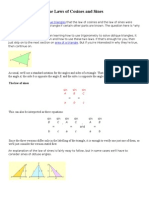 The Laws of Cosines and Sines