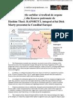 Crimele, rapirile sarbilor si traficul de organe al mafiei UCK din Kosovo patronate de Hashim Thaci. RAPORTUL integral al lui D