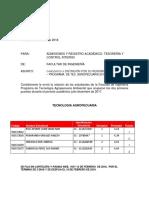 DISTINCIÓN ACADÉMICA 2017-2 TEC. AGROPECUARIA ESPECIAL